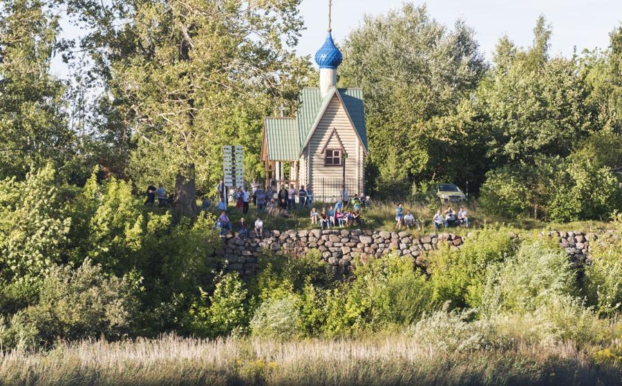 russia volga river church