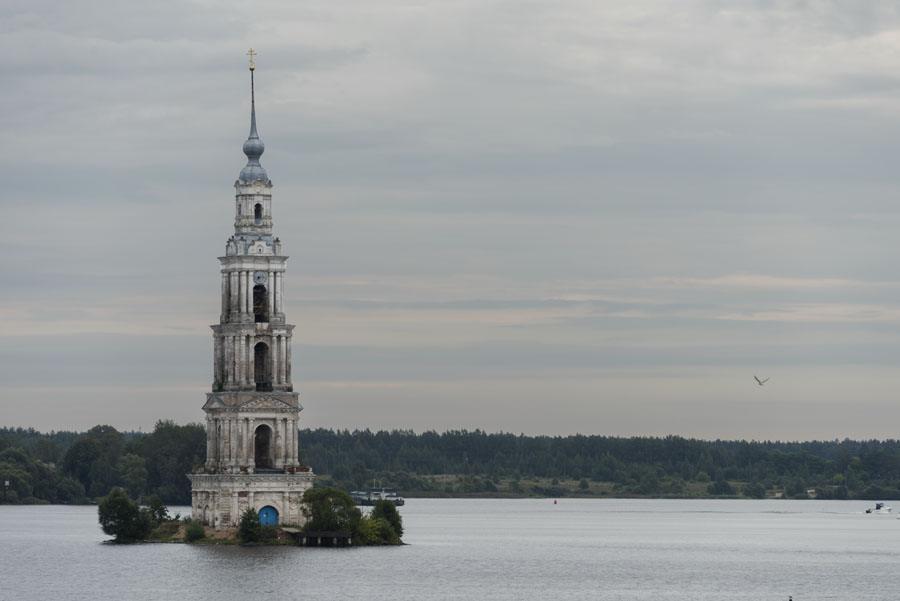 russia volga sunken church