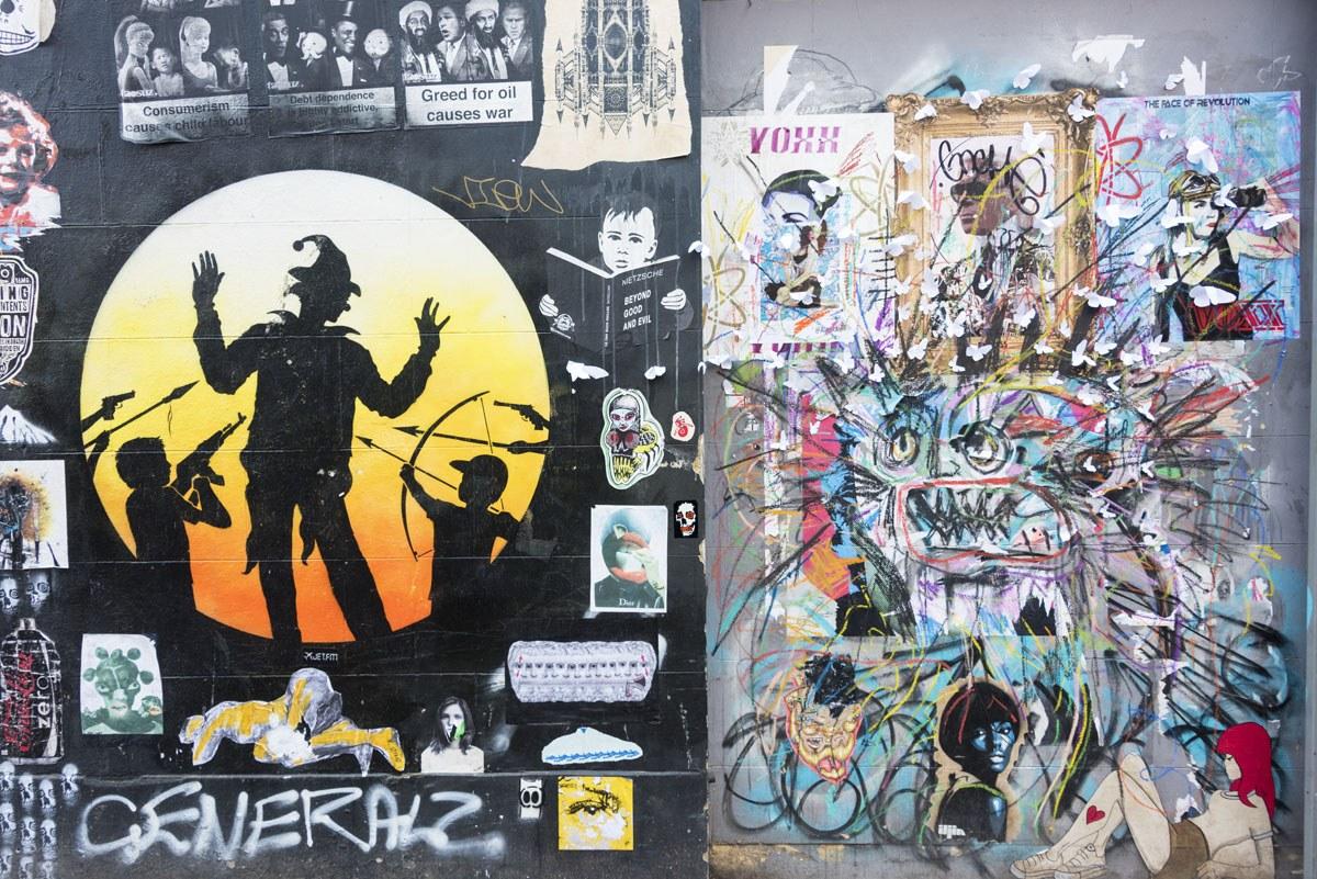 shoreditch street art colour