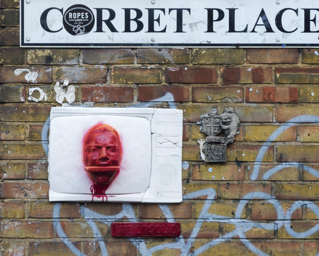 shoreditch street art head