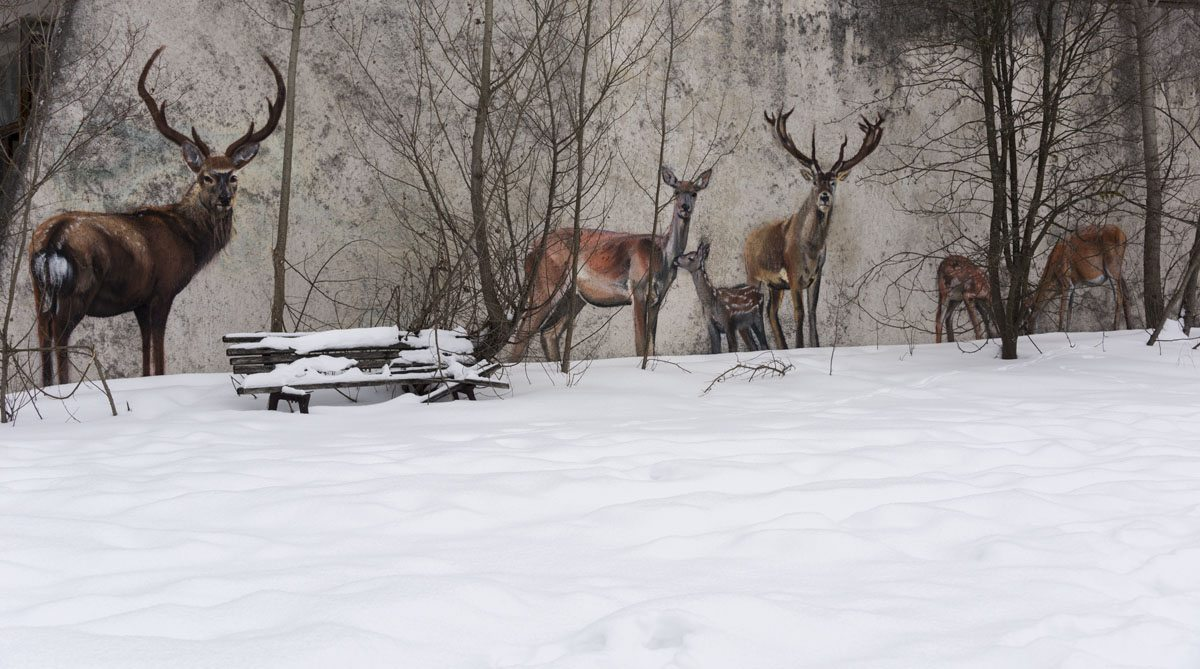 chernobyl graffiti snow