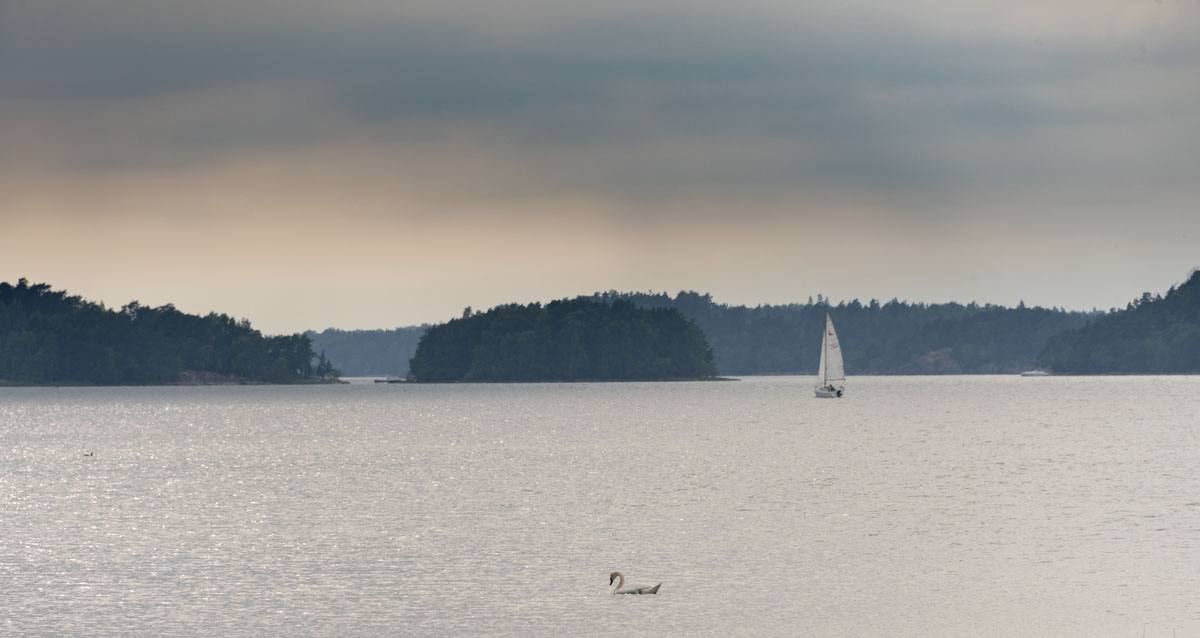 finland hazy lake