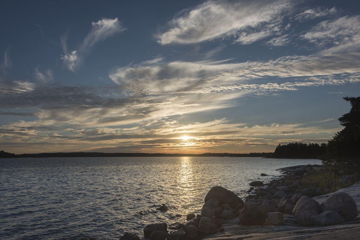 finnish archipelago sunset