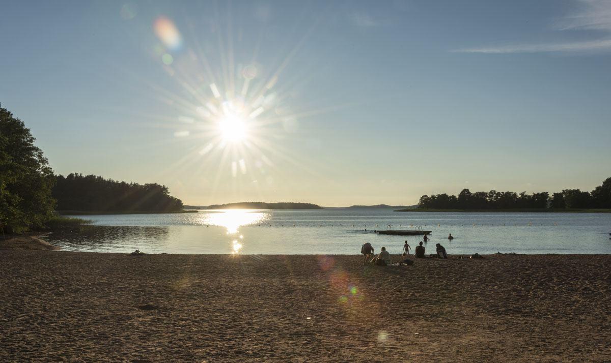 naantali beach evening