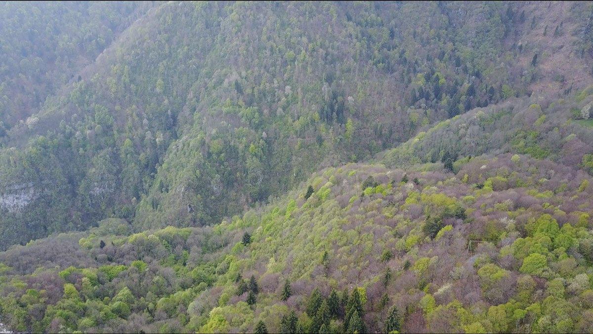 aerial mountains bergamo