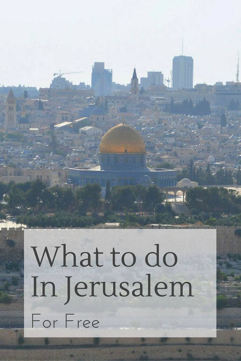 what to do in jerusalem for free mount of olives
