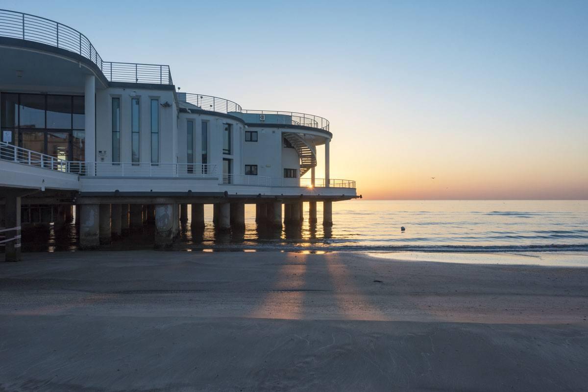 rotonda senigallia beach sunrise