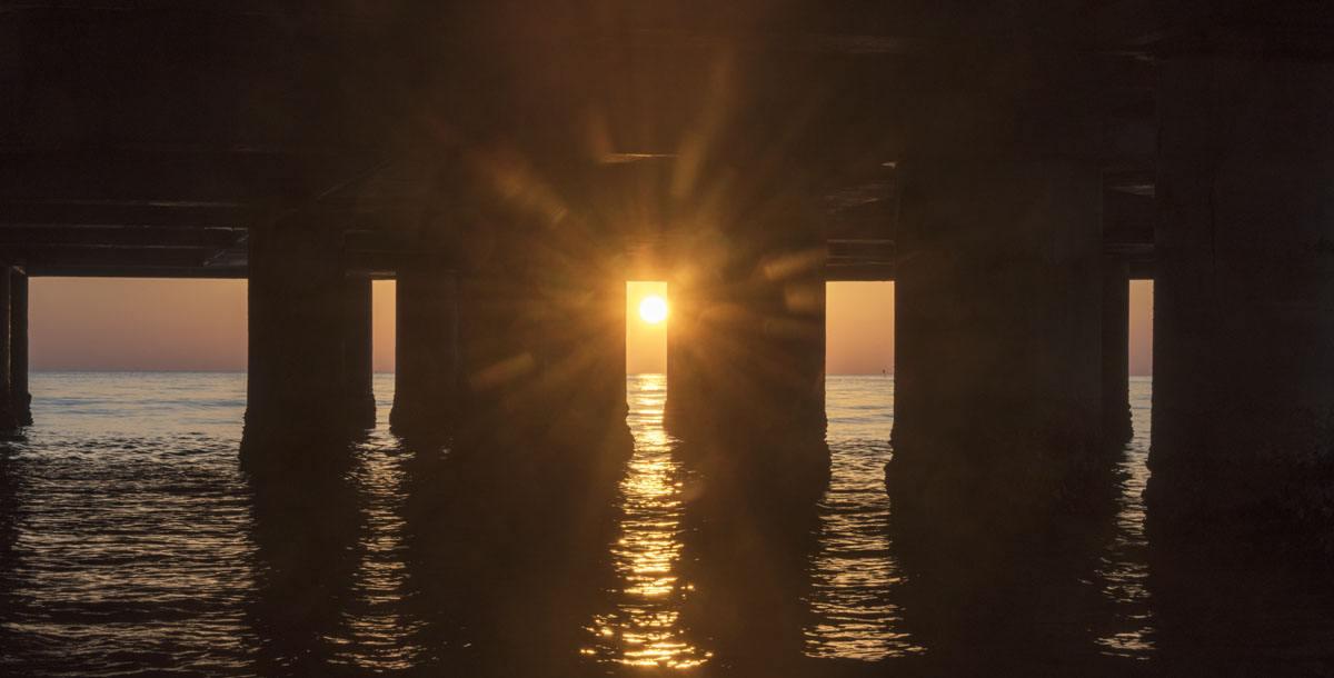 under rotonda senigallia sunrise