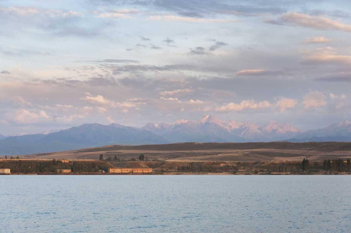 kyrgyzstan issyk kul lake sunset