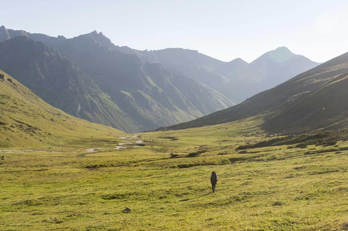 kyrgyzstan turgen ak suu sunset