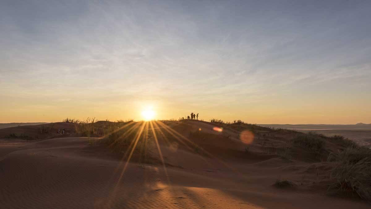 namibia sunset desert