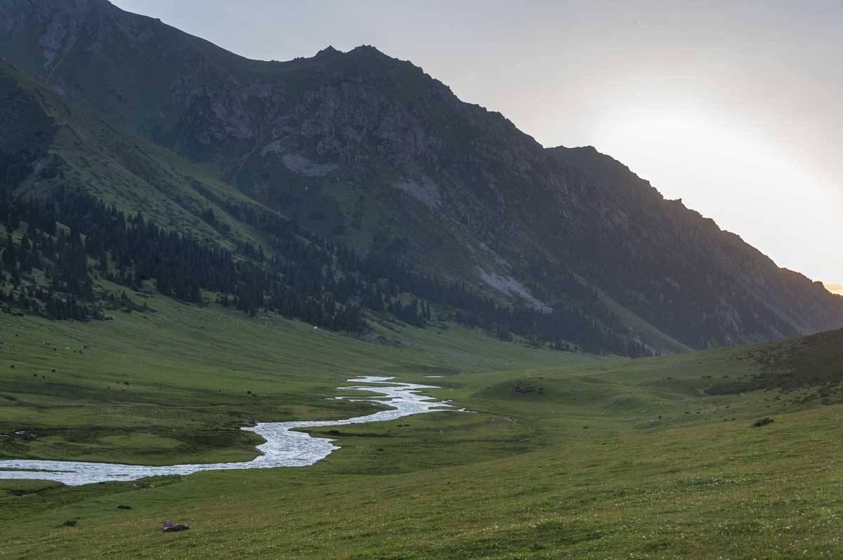 sunset valley kyrgyzstan