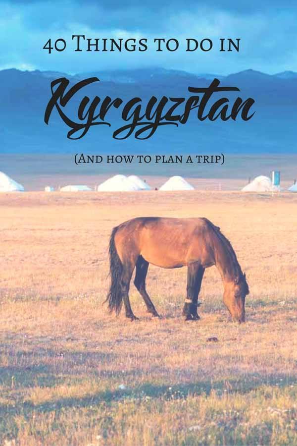 kyrgyzstan travel tips pin