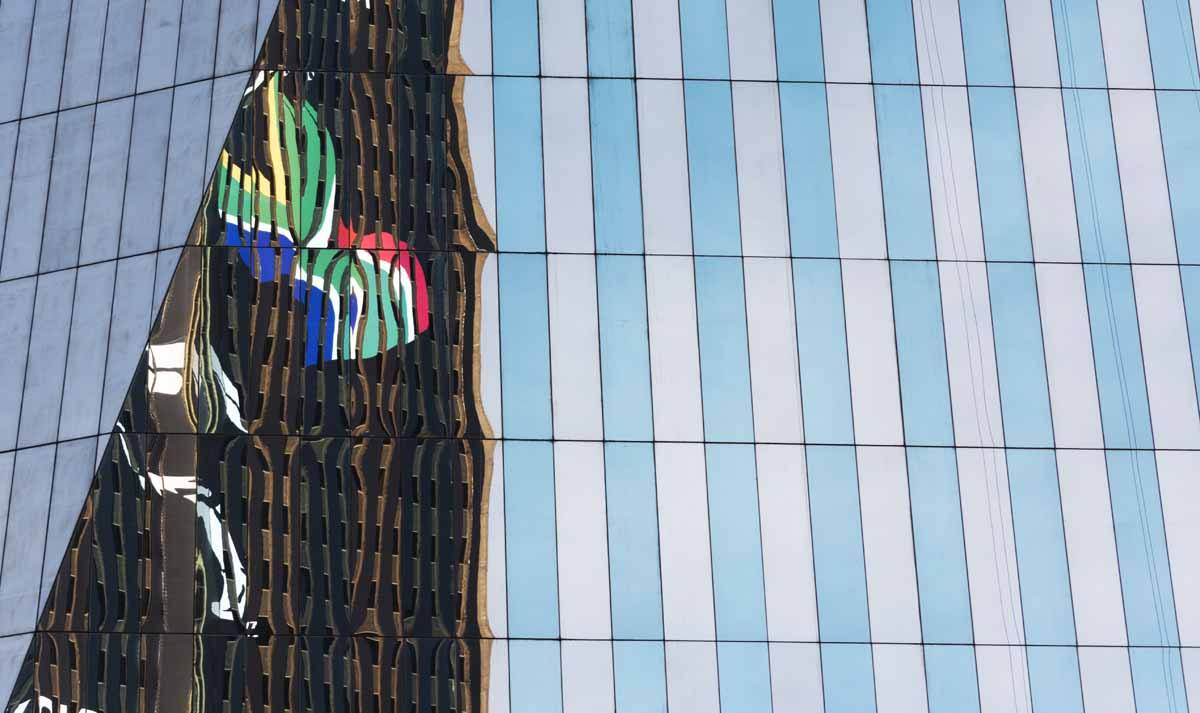 joburg south african flag reflection