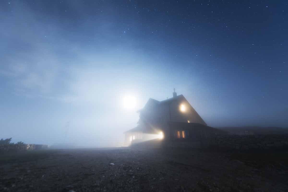 rifugio damiano chiesa altissimo night