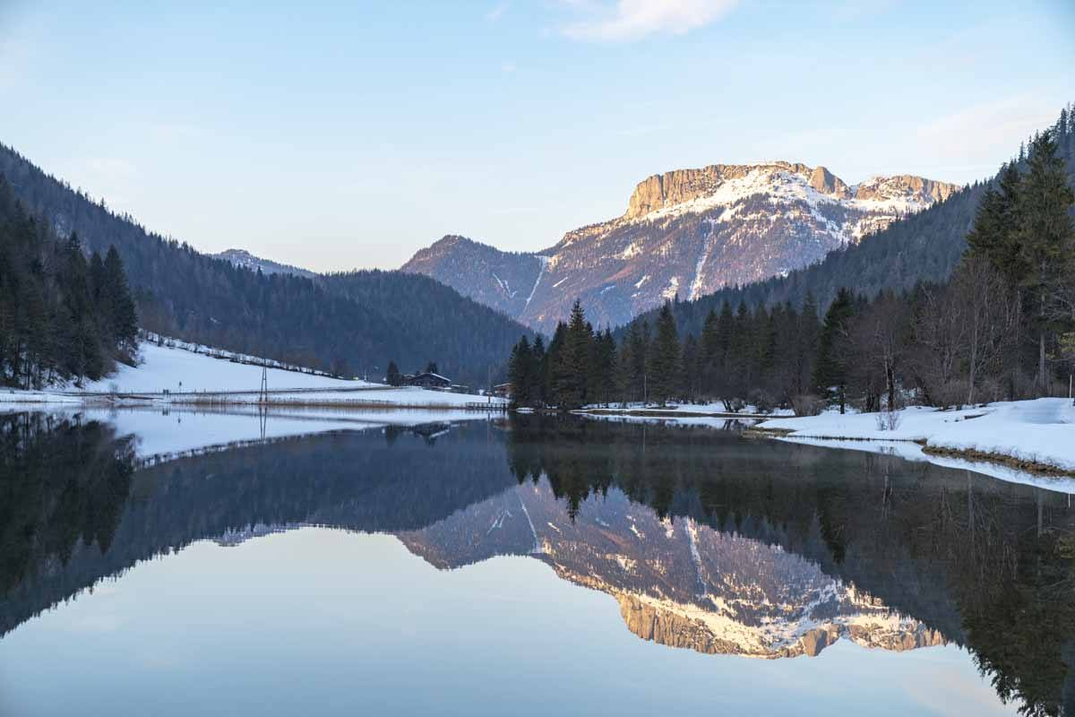 pillerseetal reflection lake