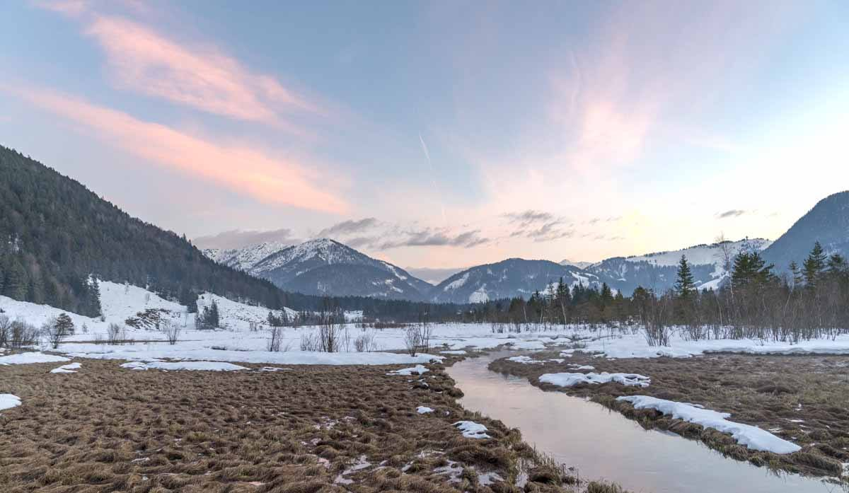 pillerseetal sunset winter
