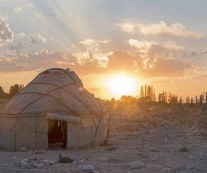 kyrgyzstan crafts traditions yurt sunset