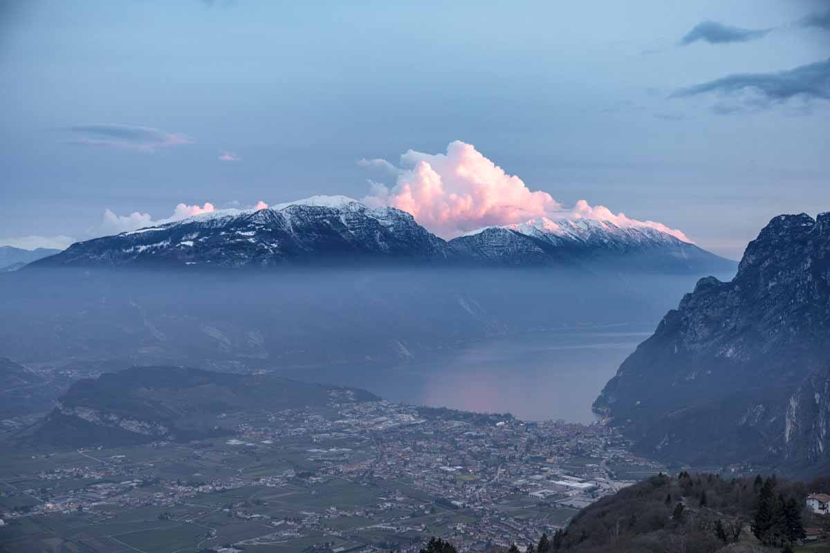 rifugio san pietro lake garda sunset