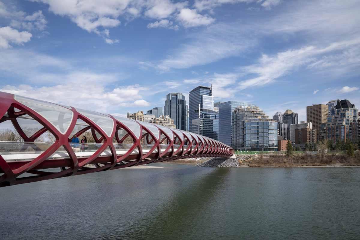 places to visit in Calgary peace bridge