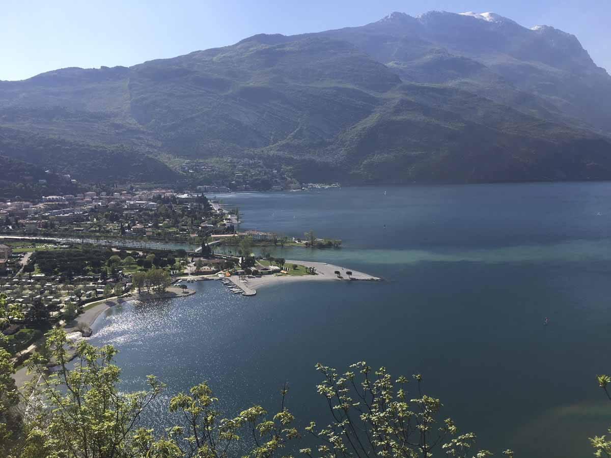 riva del garda from monte brione