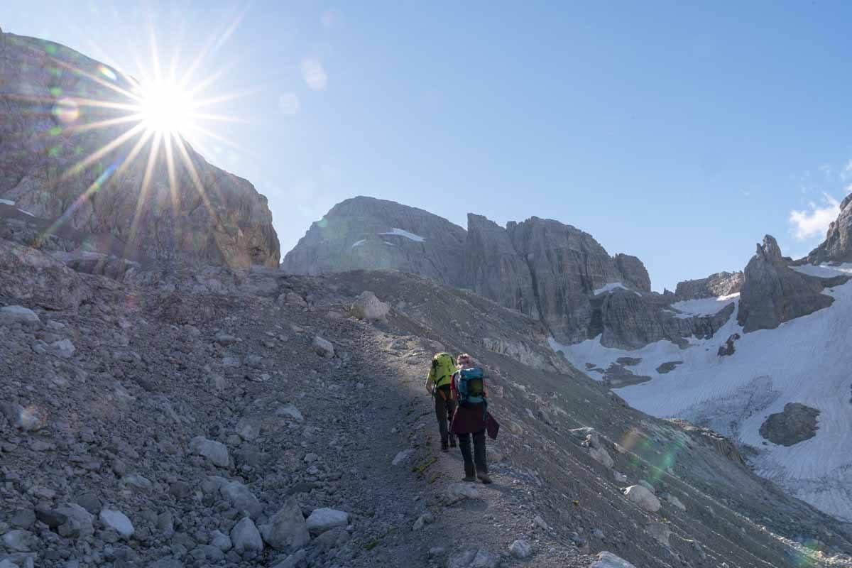 high altitude hiking brenta
