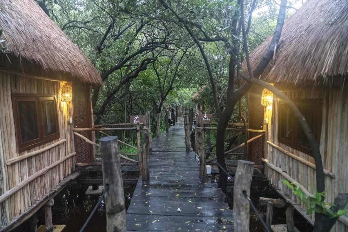 tulum bungalows rain