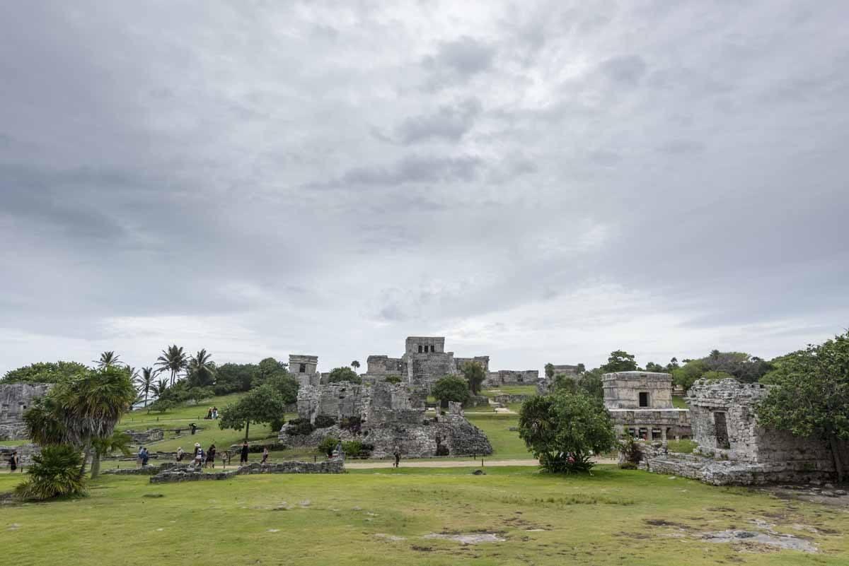 tulum temples rain cloud