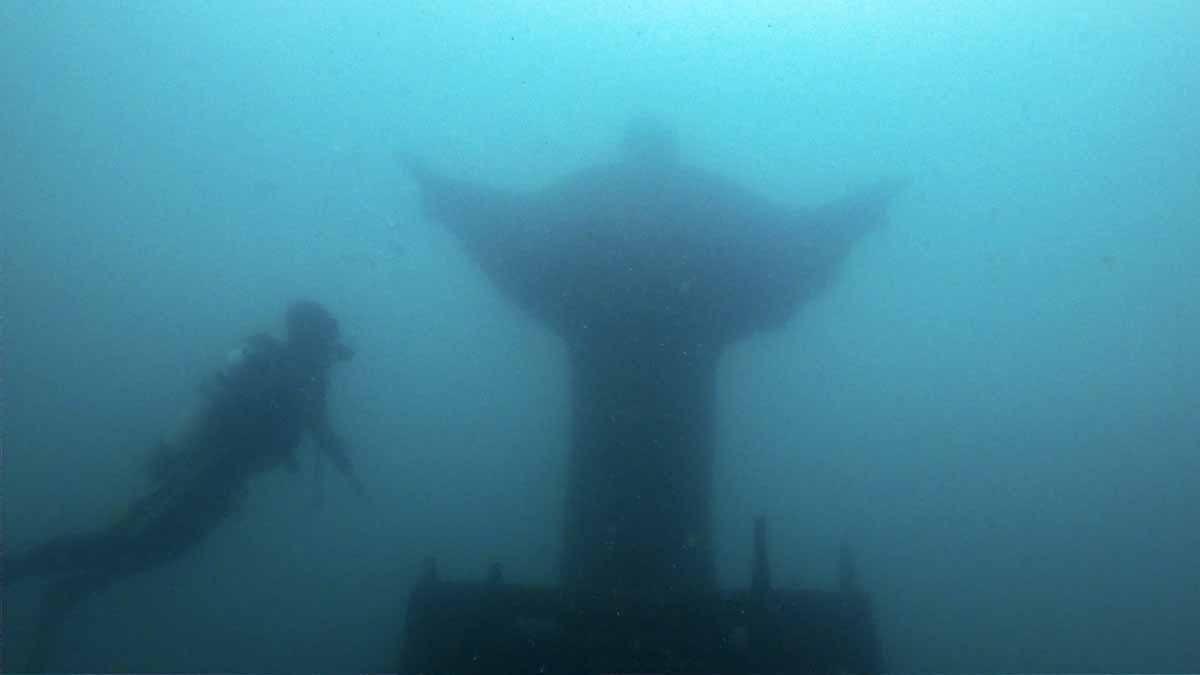 diving lake garda christ