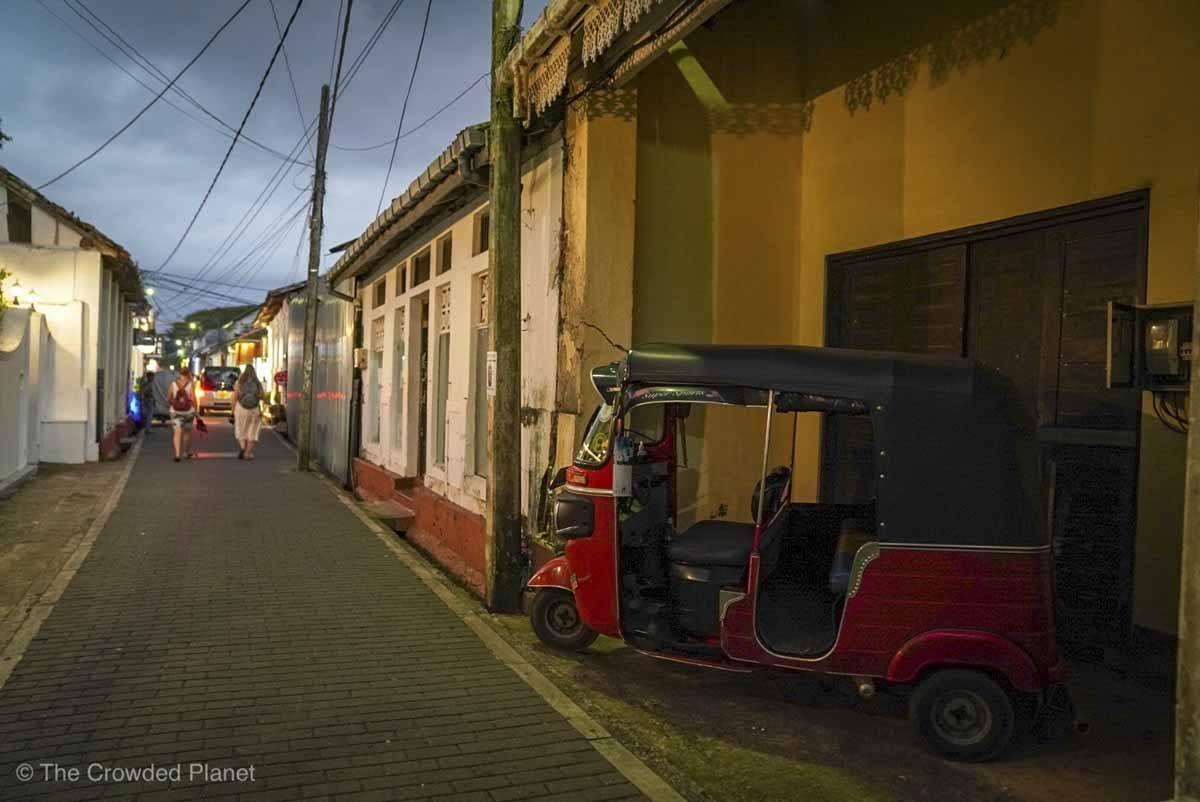 galle street sunset