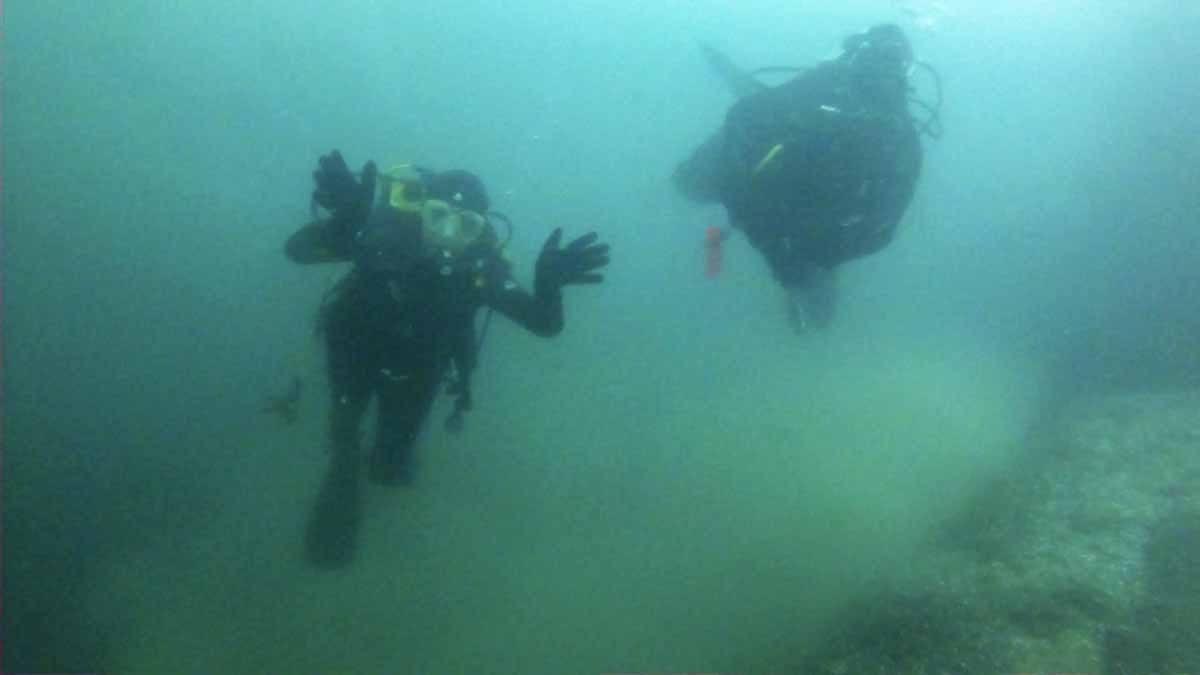 lake garda waving divers
