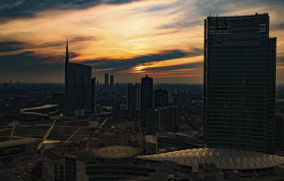 milan sunset best view