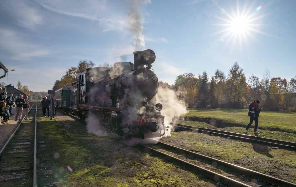 steam train latvia