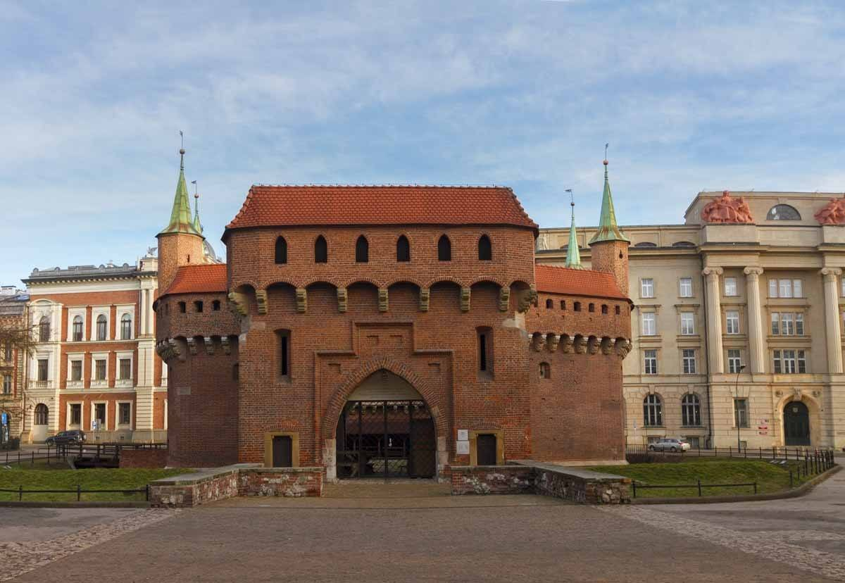 old Barbacan in Krakow, Poland
