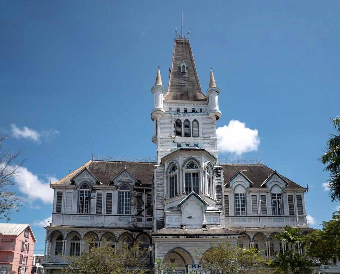 colonial architecture guyana georgetown