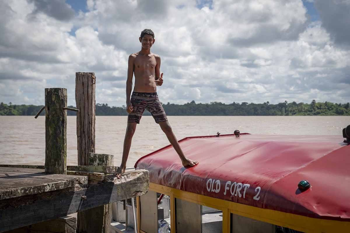 guyana boy essequibo river