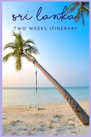 2 weeks sri lanka itinerary