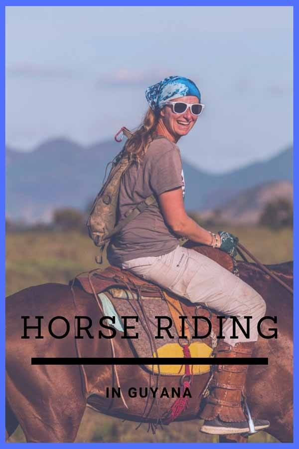 horseback riding guyana pin
