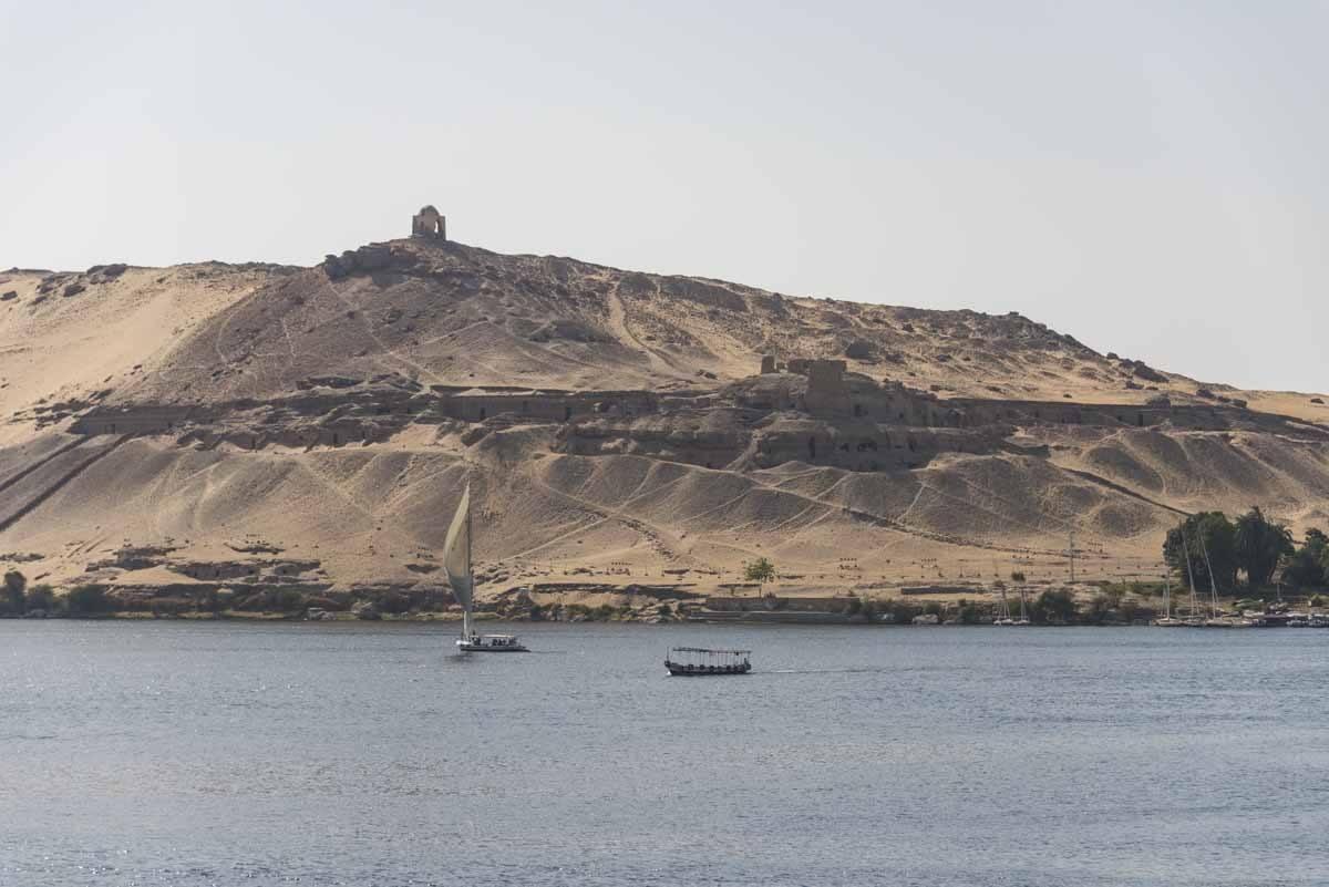 aswan crossing nile felucca