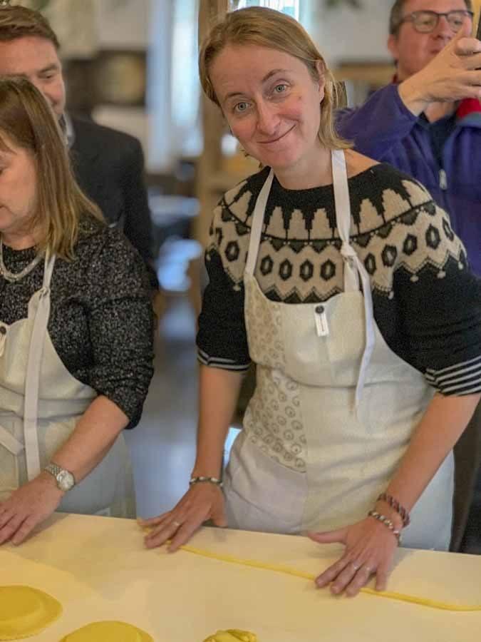 sebadas sardinia making