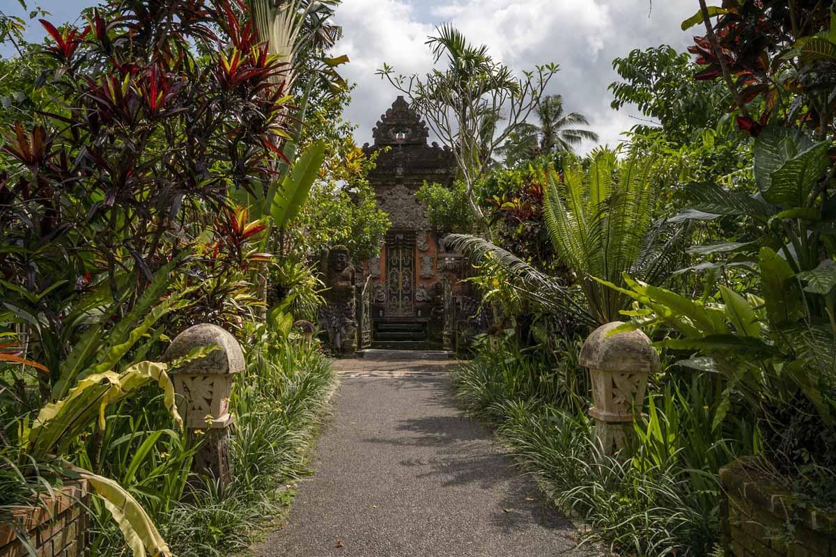 balinese home ubud entrance
