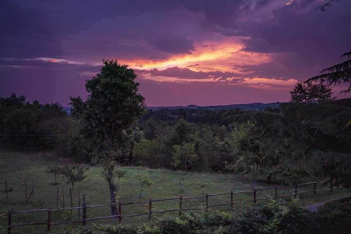 fornovo sunset via francigena