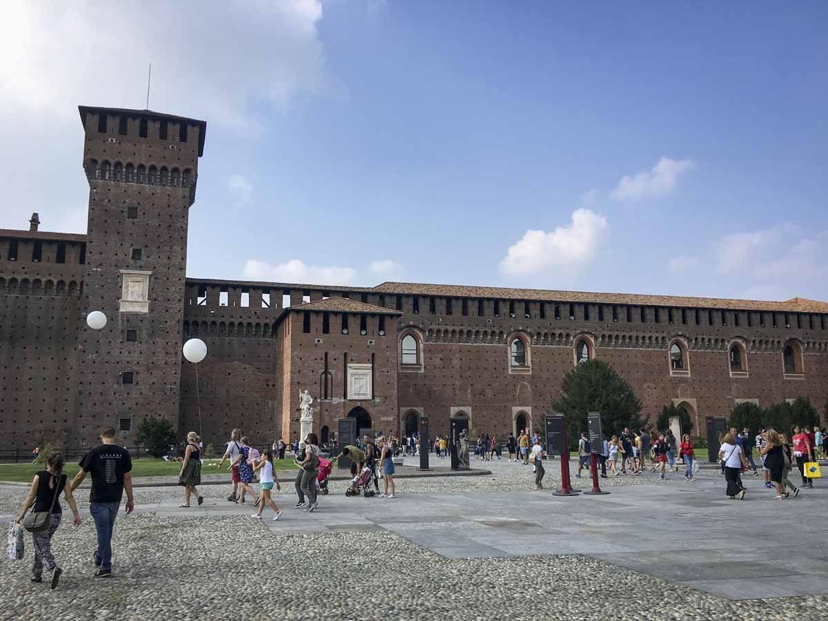 sforza castle milan courtyard