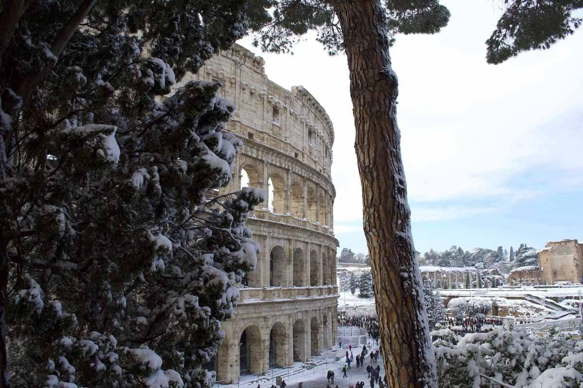 italy in winter rome
