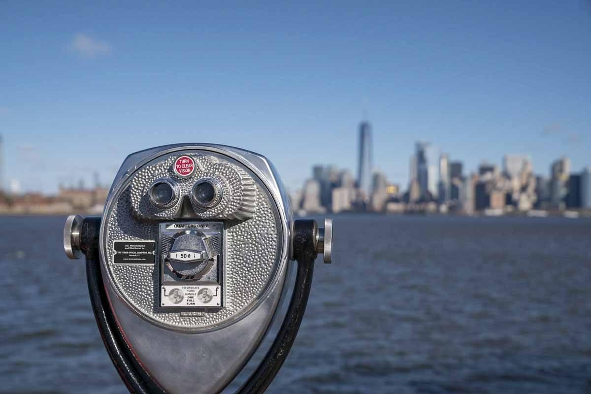 nyc winter view from liberty island