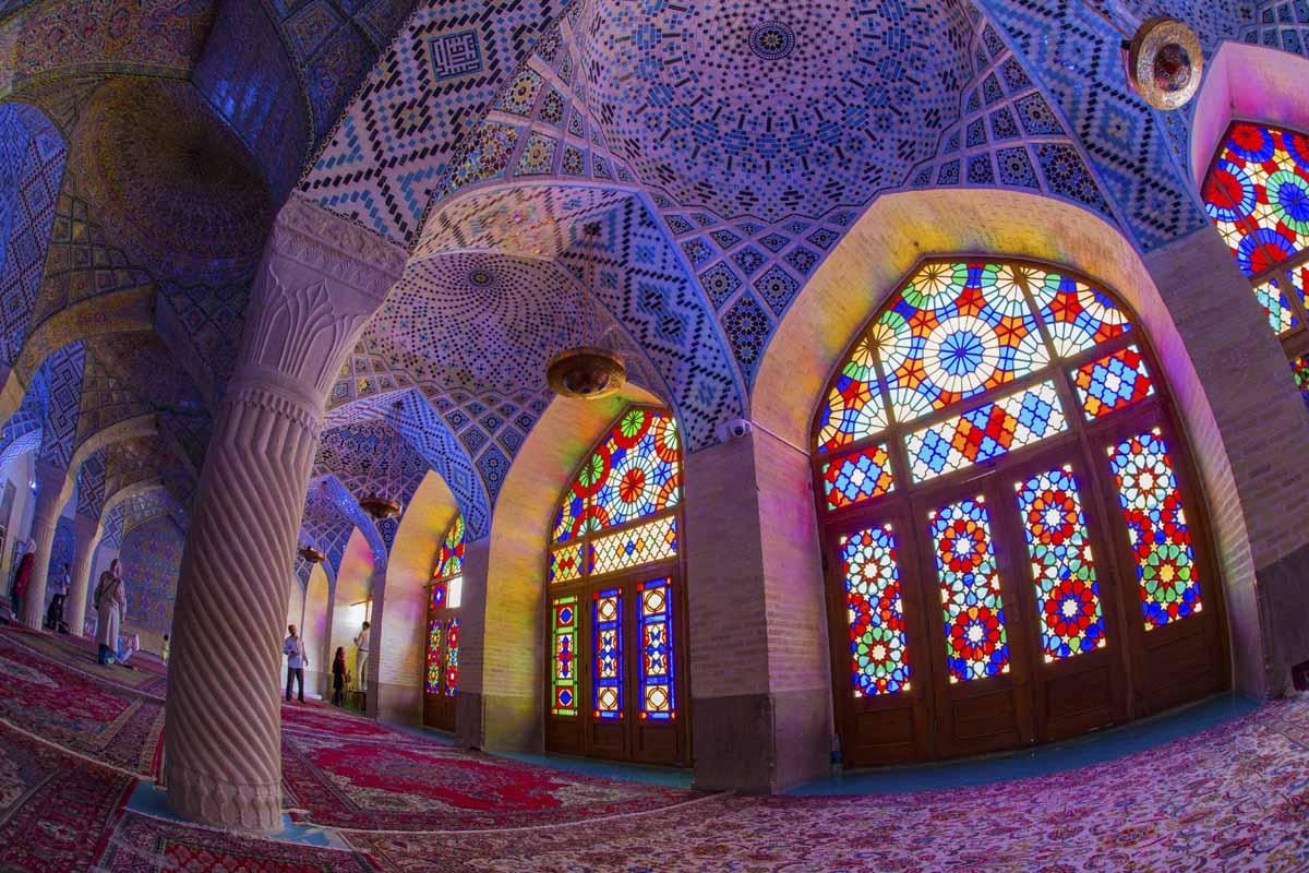shiraz travel pink mosque