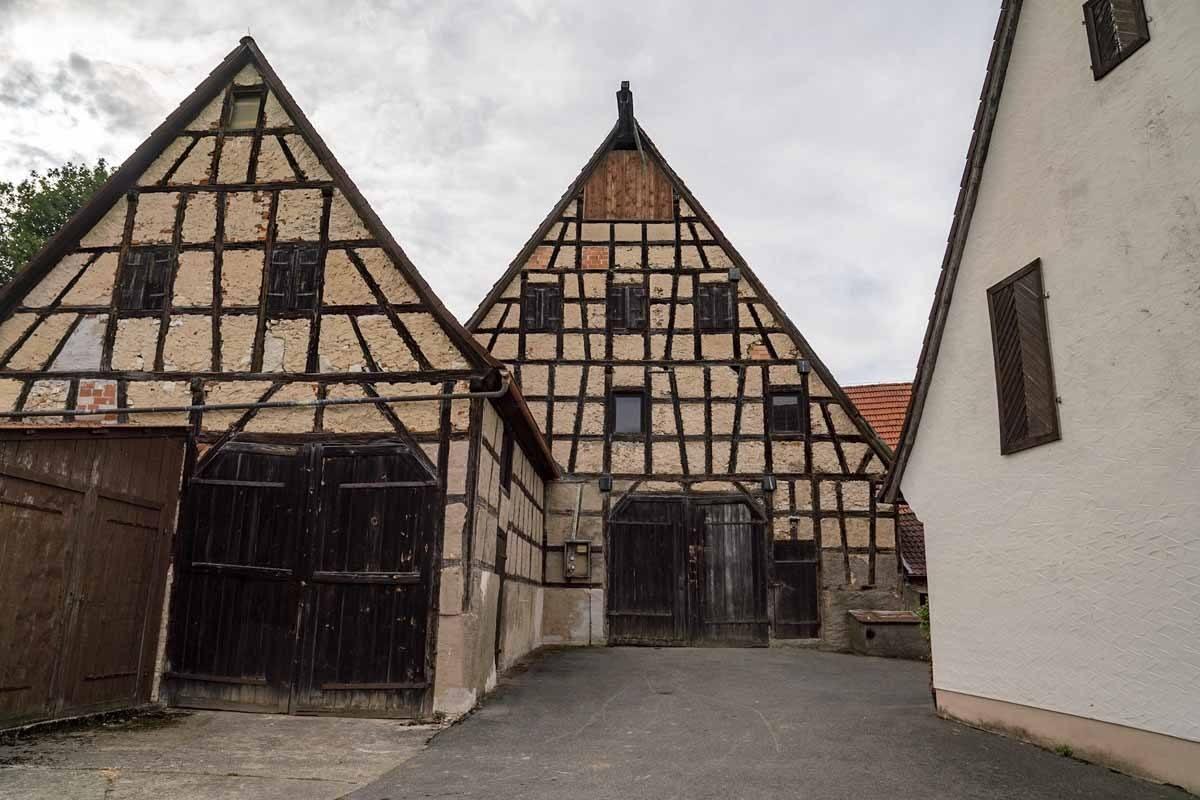 half timbered houses thuisbrunn franconia