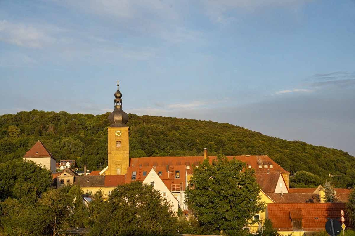 weissenhohe franconian switzerland sunset