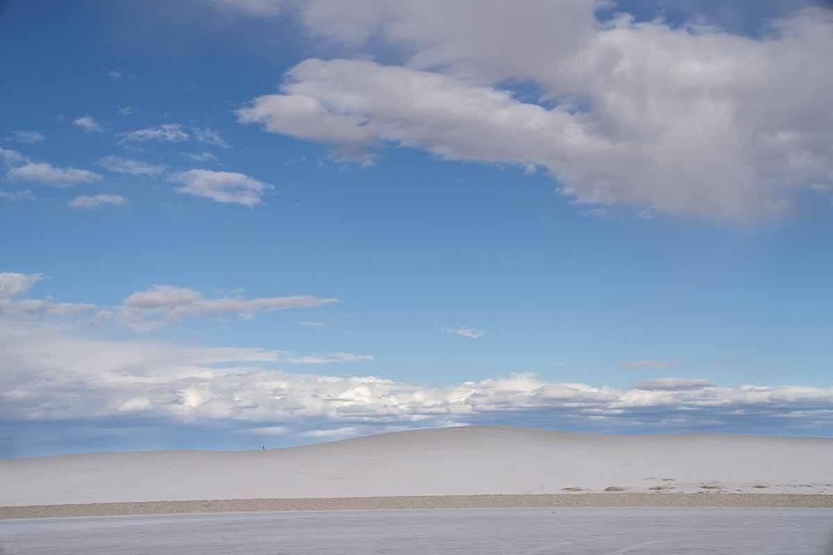 gypsum dunes white sands national park
