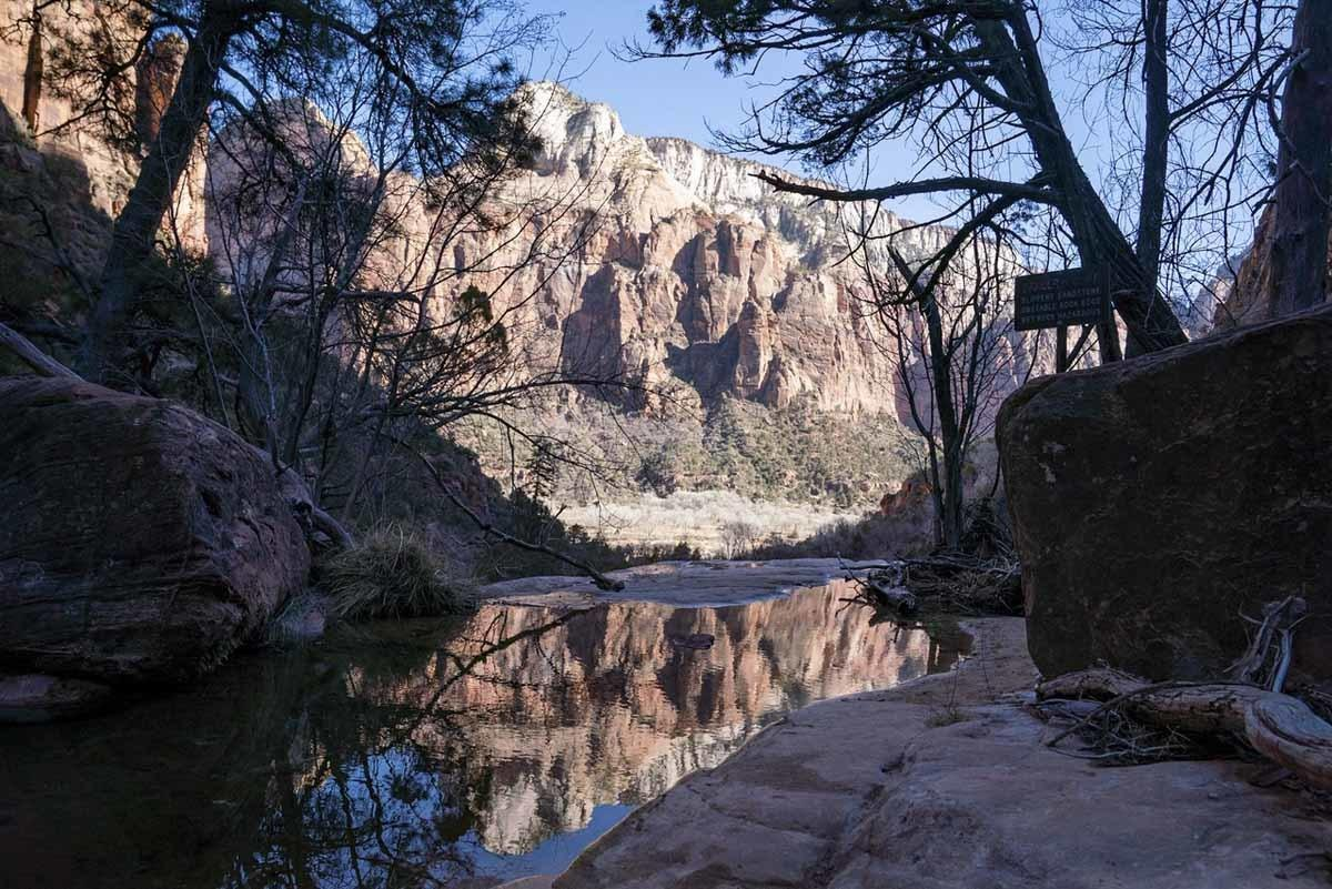 zion national park middle emerald pools